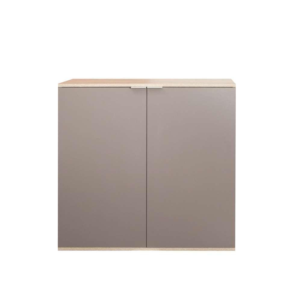 Symbiosis armoire à chaussures Ellinge - couleur chêne/taupe - 93,9x93x37 cm