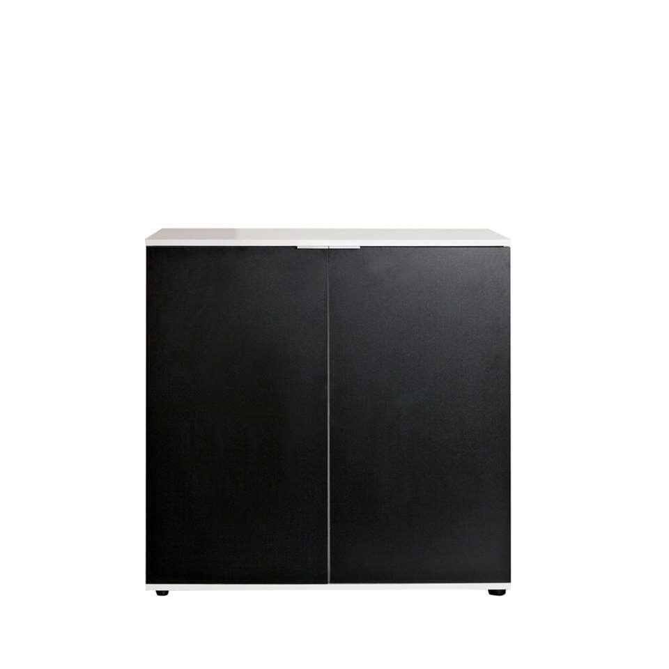 Symbiosis schoenenkast Ellinge - wit/zwart - 93,9x93x37 cm - Leen Bakker