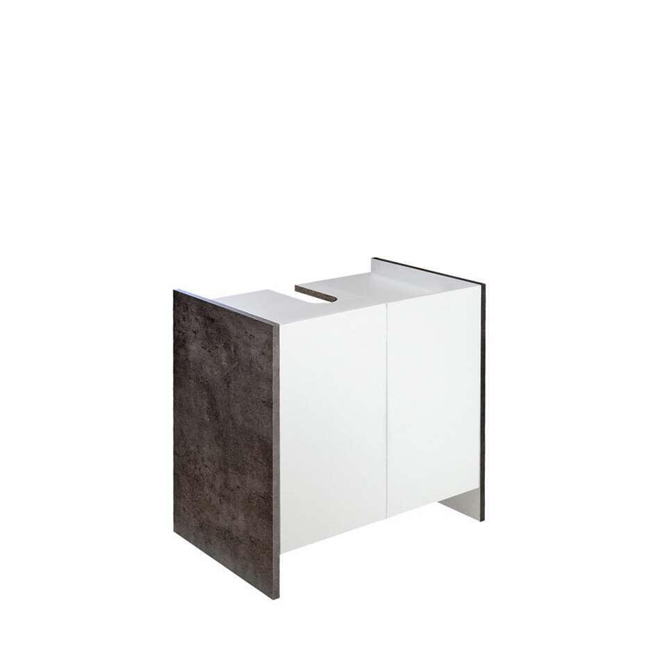Symbiosis wastafelkast Brandbjerg - wit/grijs - 59,2x60x38,4 cm - Leen Bakker