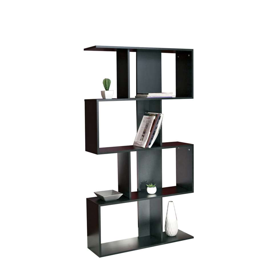 symbiosis boekenkast eidal zwart 165x89x25 cm