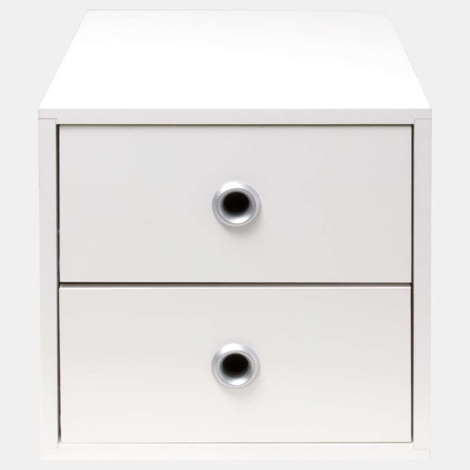 Smartbox ladeset - wit (2 stuks) - 35,5x40x56,5 cm - Leen Bakker