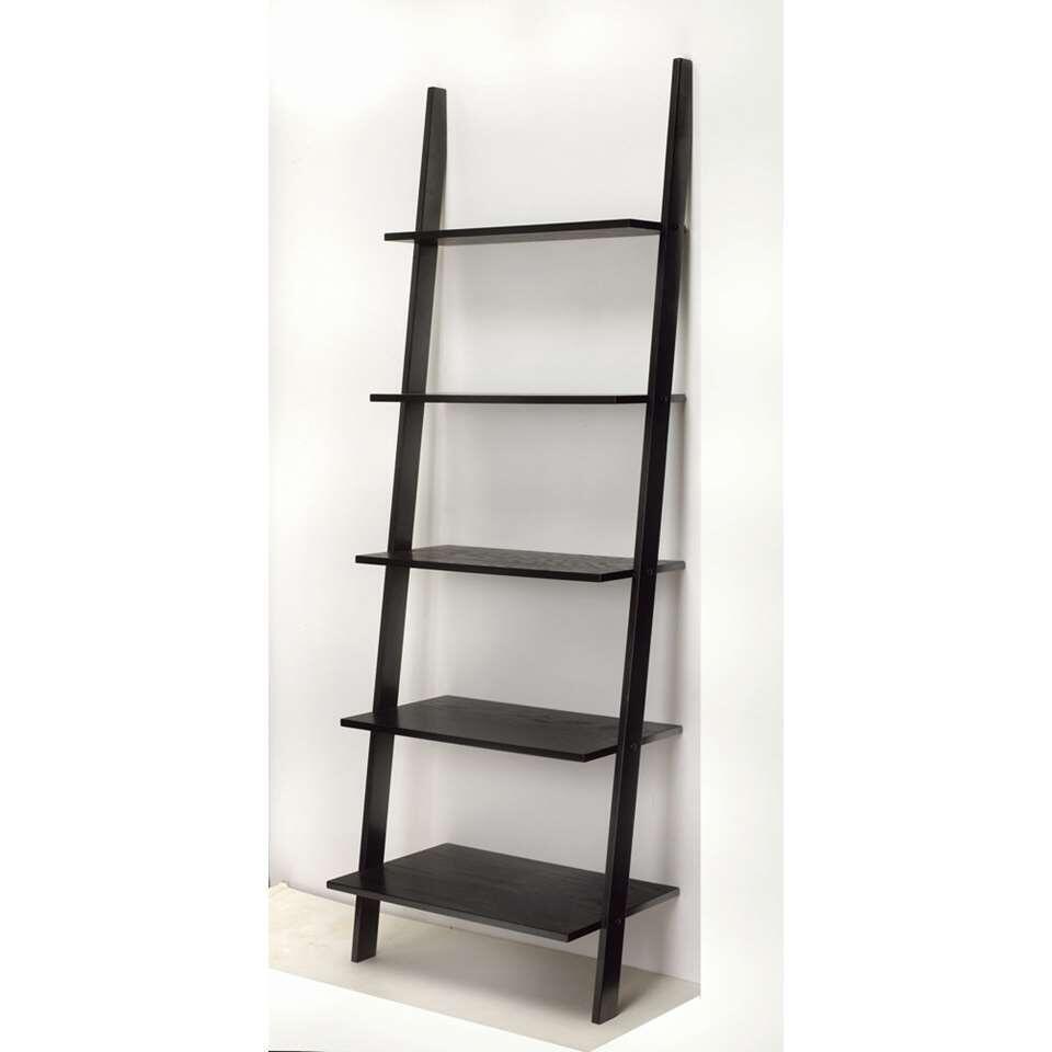 boekenkast gorvik zwart 183 cm