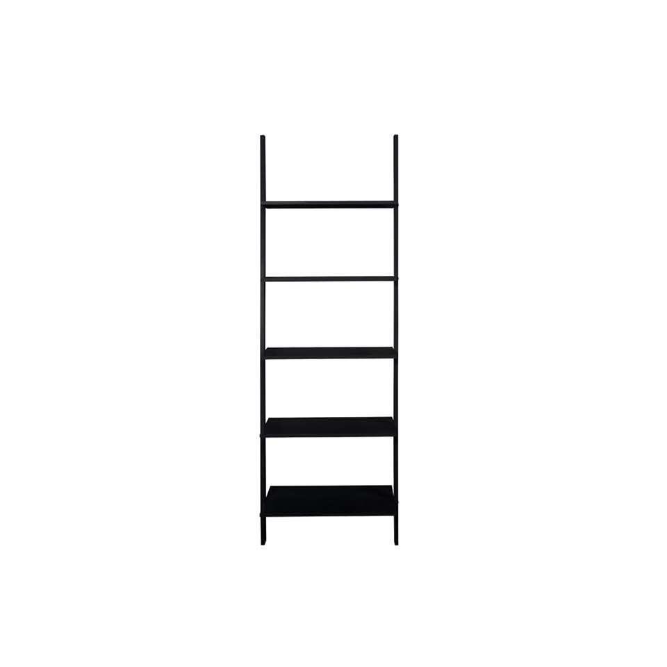 Boekenkast Gorvik – zwart – 183 cm – Leen Bakker