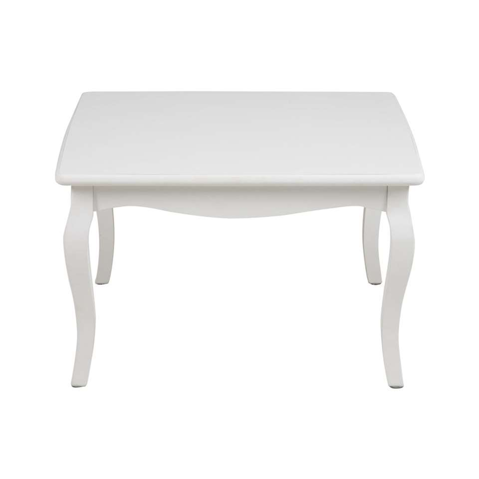 Salontafel Francine - wit - 42x70x70 cm - Leen Bakker