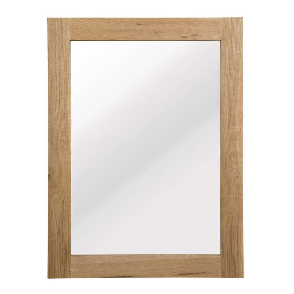 Spiegel Norsholm - eikenkleur - 76x57x2 cm - Leen Bakker