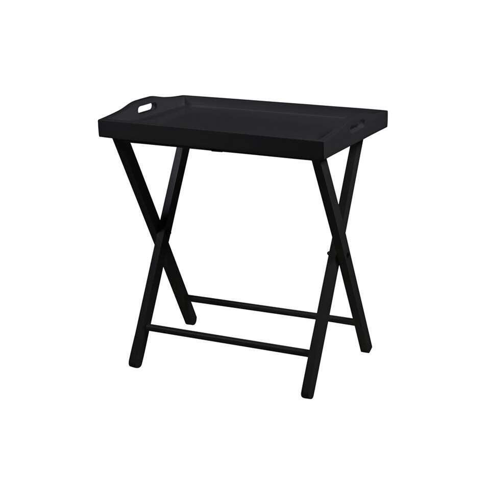 Bijzettafel Norrbo - zwart - 37x56x63 cm - Leen Bakker