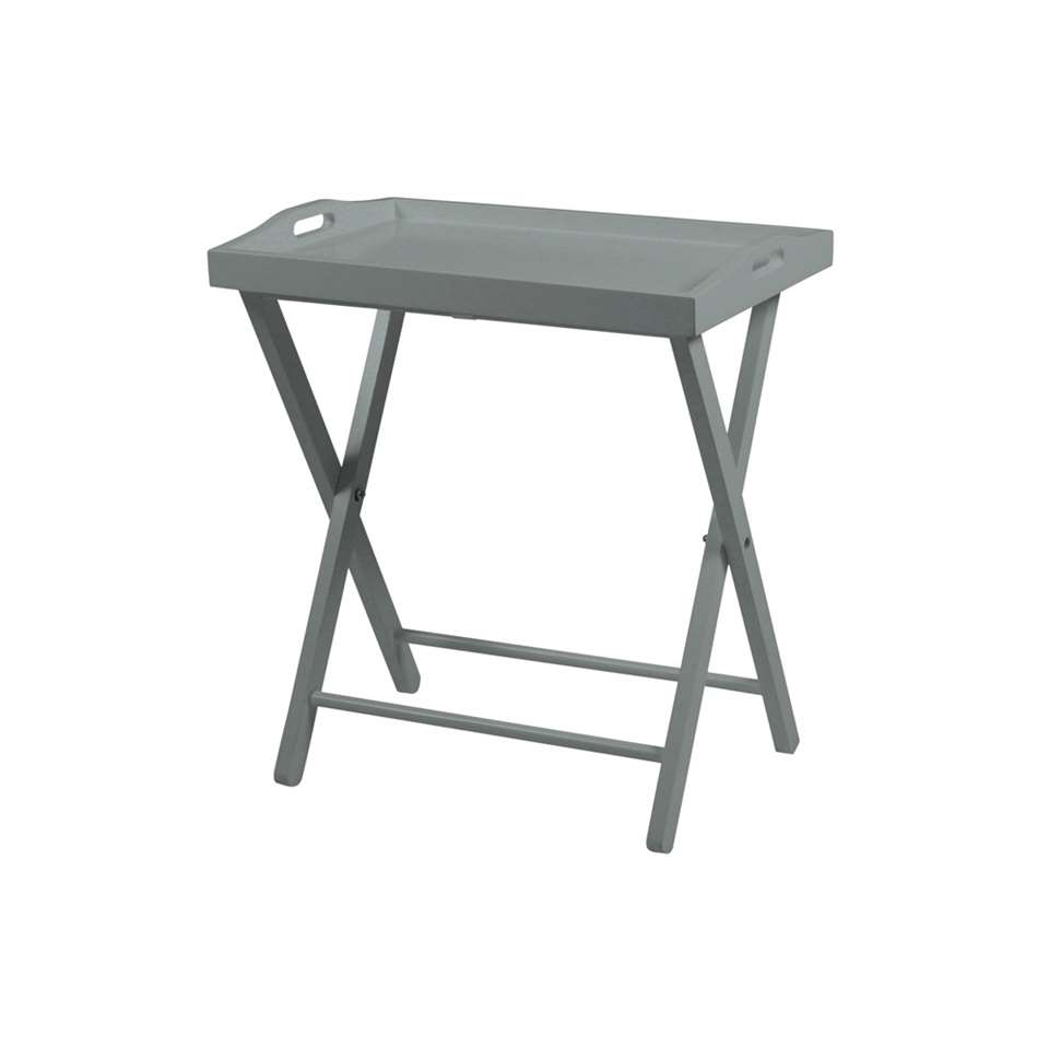 Bijzettafel Norrbo - grijs - 37x56x63 cm - Leen Bakker