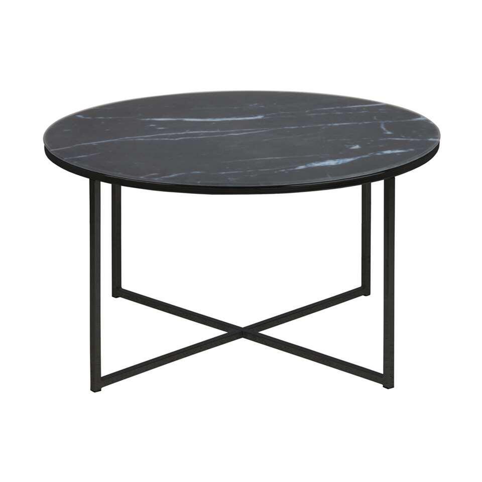 Salontafel Ostana - zwart - Ø80x45 cm - Leen Bakker