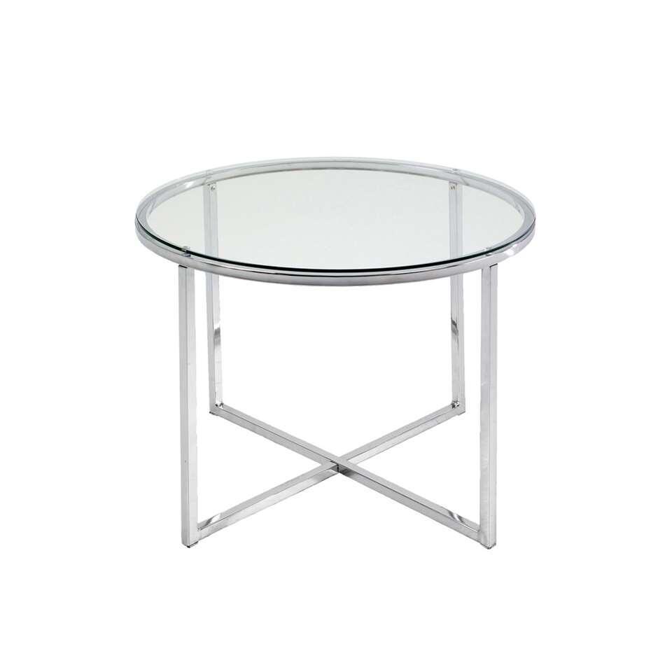 Glazen Bijzet Tafeltje.Bijzettafel Indor Glas 45xo55 Cm