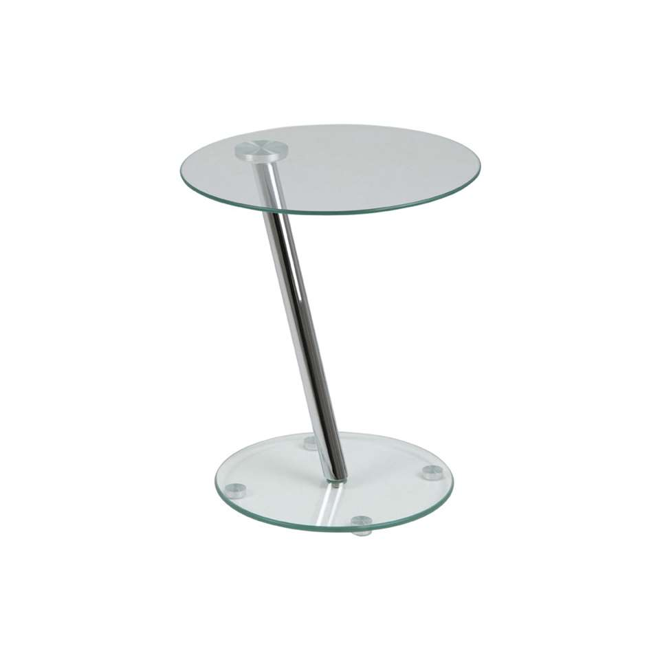 Bijzettafel Voxna - glas - 42xØ38 cm - Leen Bakker