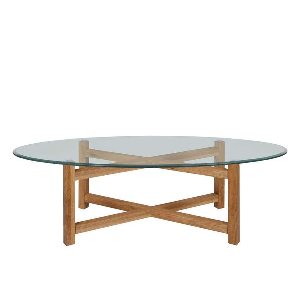 Salontafel Olen - glas/hout - 45x140x65 cm - Leen Bakker