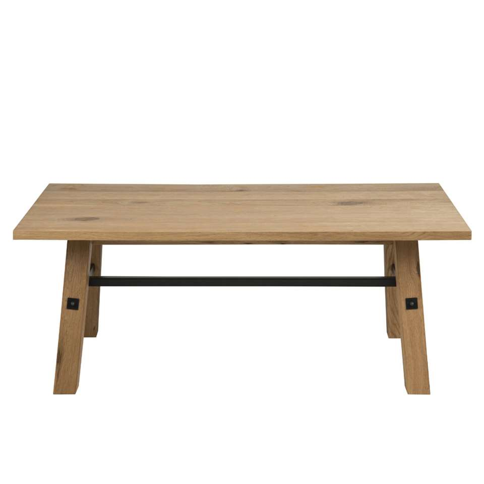 Table de salon Norsholm - couleur chêne - 46x117x58 cm