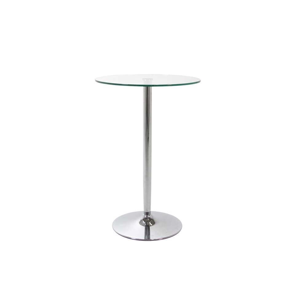 Statafel Farstad - glas - 107xØ70 cm - Leen Bakker