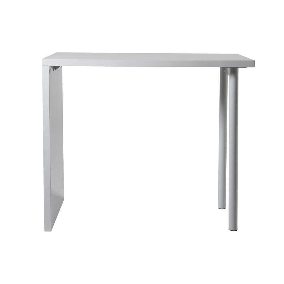 Bartafel Kroby - hoogglans wit - 105x120x60 cm - Leen Bakker