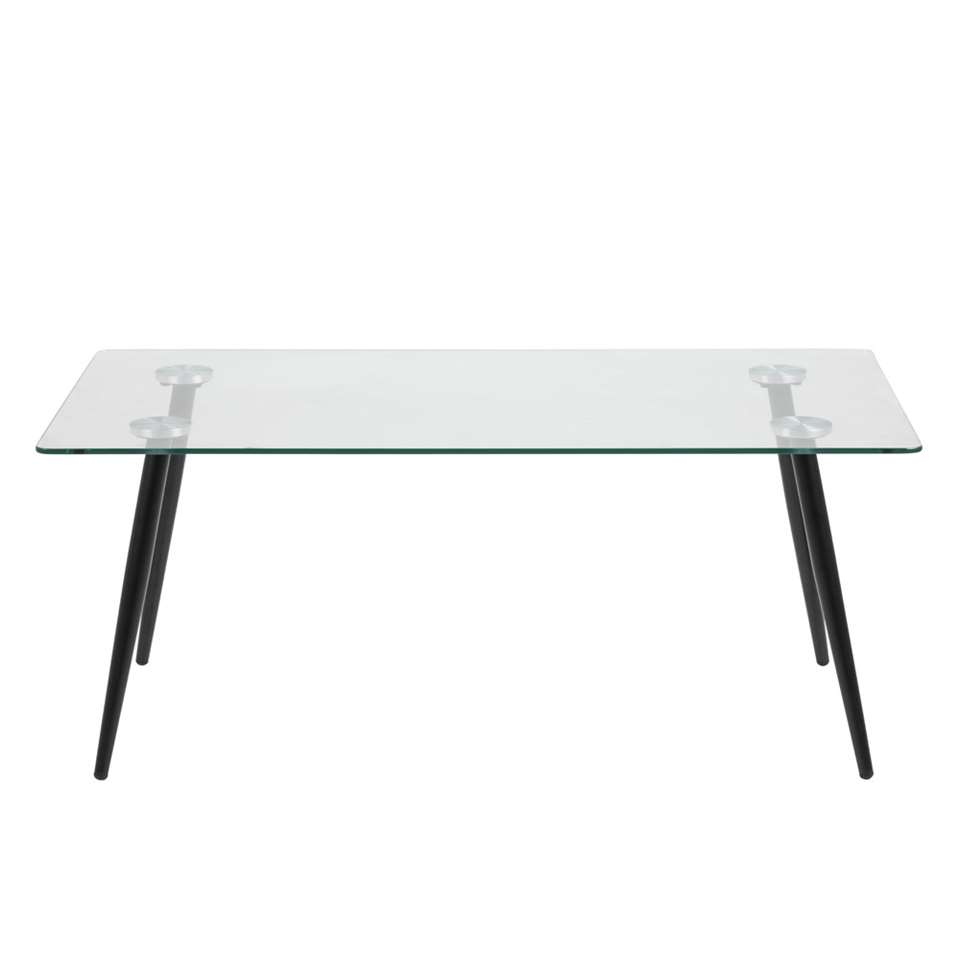 Verbazingwekkend Eetkamertafel Viksmom - zwart - glas - 75x140x80 cm SB-97