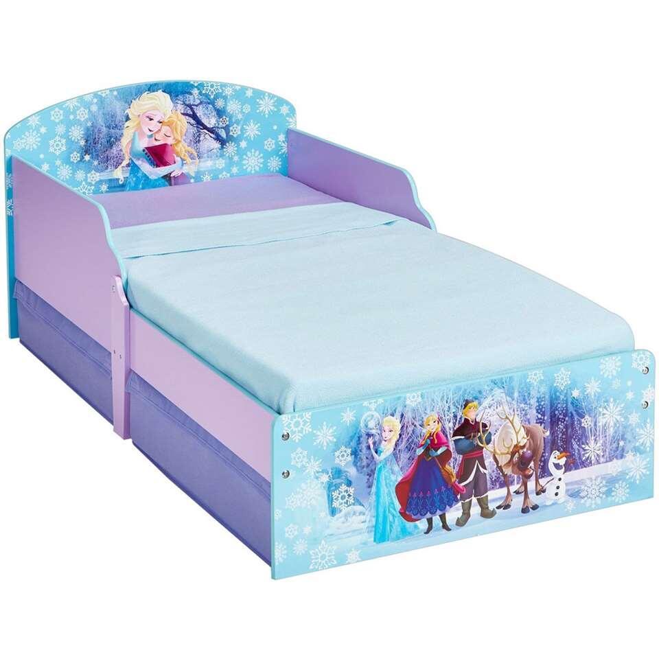 Disney Frozen bed met lade - paars/blauw - 145x77x59 cm - Leen Bakker