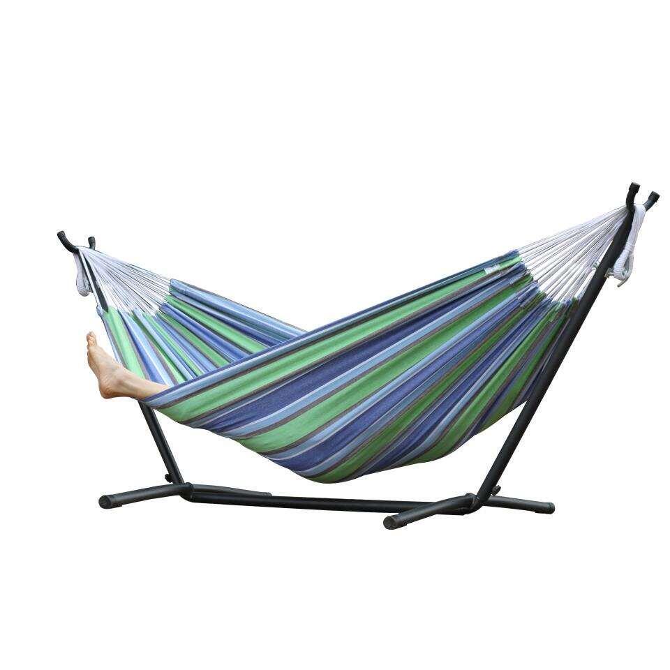 Vivere hangmat met standaard - 2-persoons - oasis - Leen Bakker