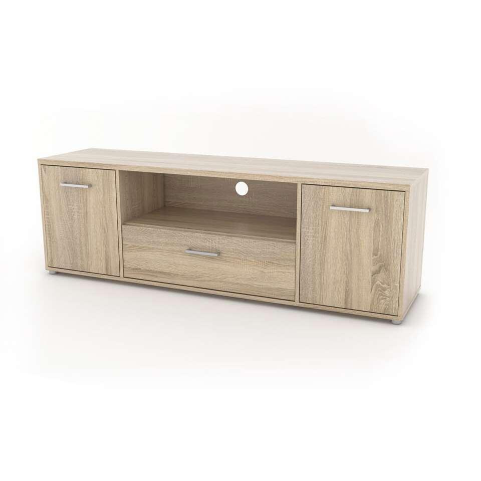 TV-meubel Uldum - eikenkleur - 39,1x155,6x50,9 cm - Leen Bakker