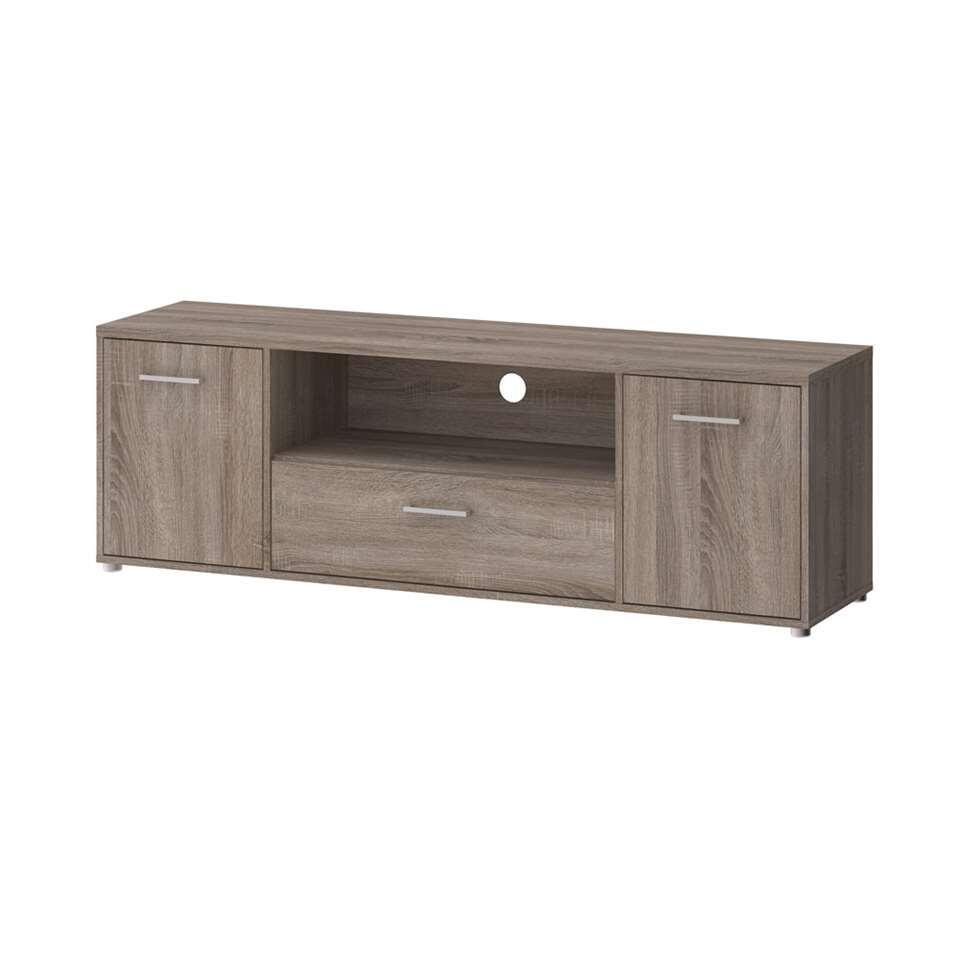 TV-meubel Uldum - grijs eikenkleur - 39,1x155,6x50,9 cm