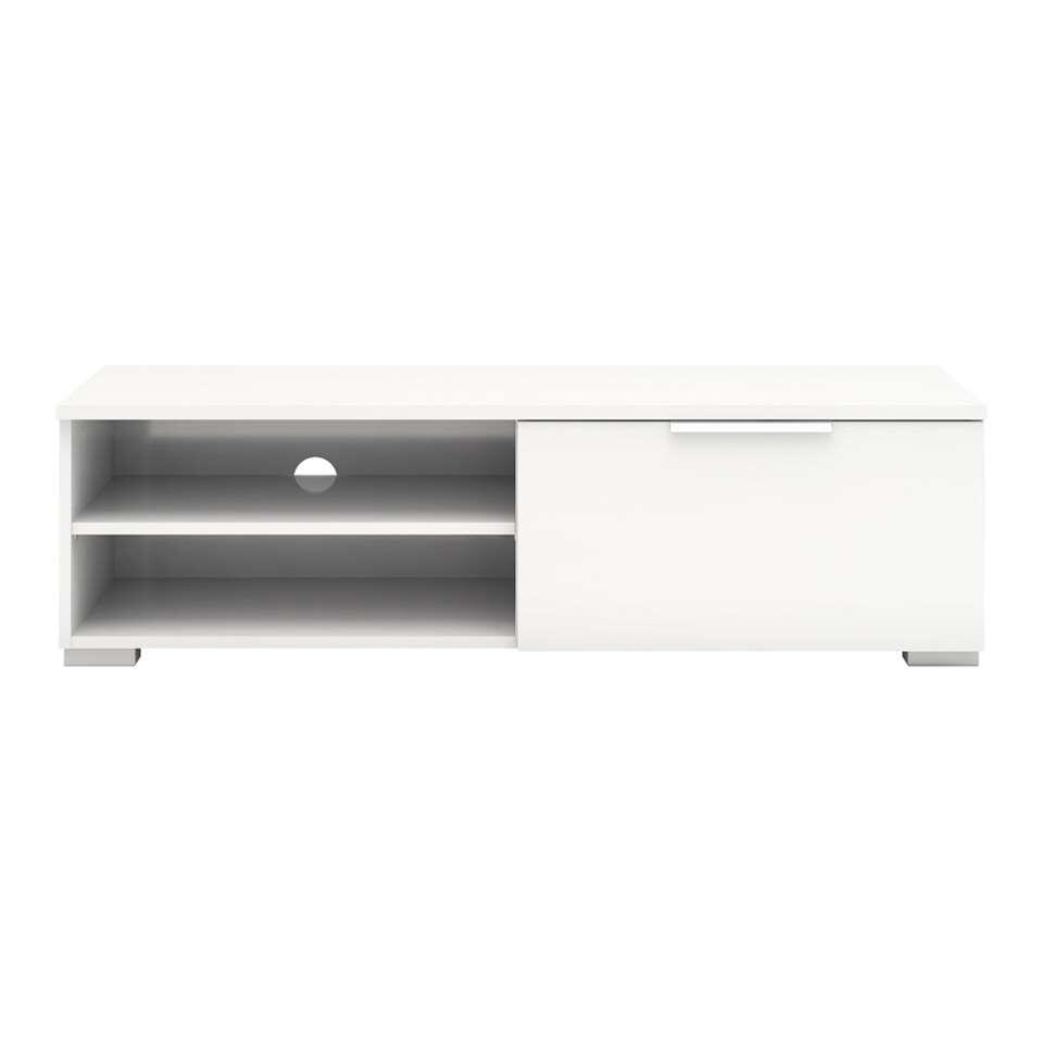 TV-meubel Uldum - wit - 39,9x115,7x33,1 - Leen Bakker