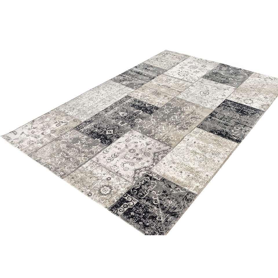 Home Living vloerkleed Retro - grijs - 125x200 cm - Leen Bakker
