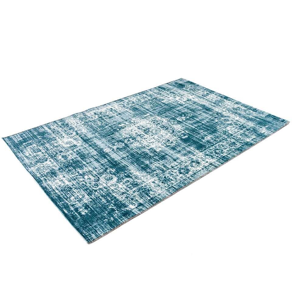 Home Living vloerkleed Classic - lichtblauw - 125x200 cm - Leen Bakker