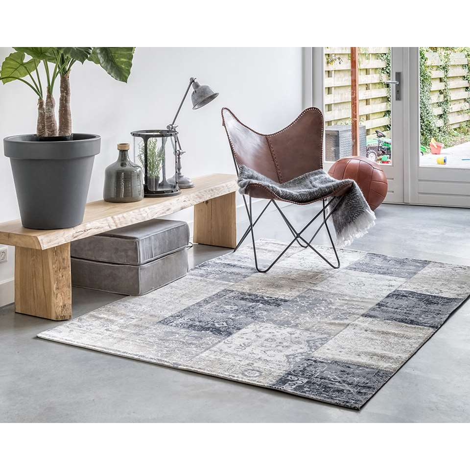 Genoeg Home Living vloerkleed Retro - grijs - 230x330 cm &BS01