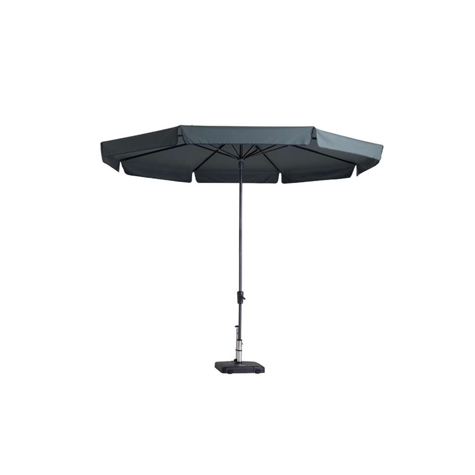 Madison parasol Syros luxe - grijs - Ø350 cm - Leen Bakker