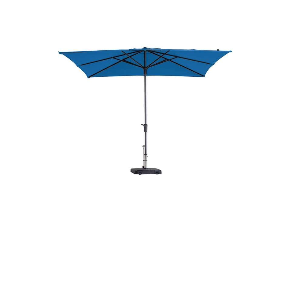 Madison parasol Syros luxe - turquoise - 280x280 cm - Leen Bakker