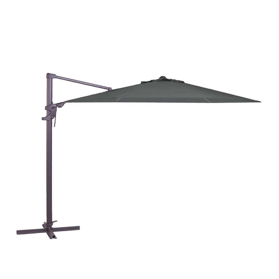 Madison parasol Monaco Flex - grijs - Ø330 cm - Leen Bakker