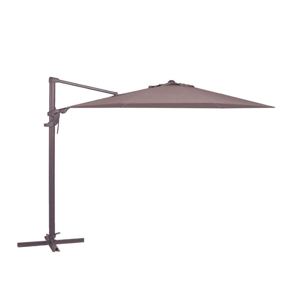 Madison parasol Monaco Flex – taupe – Ø330 cm – Leen Bakker