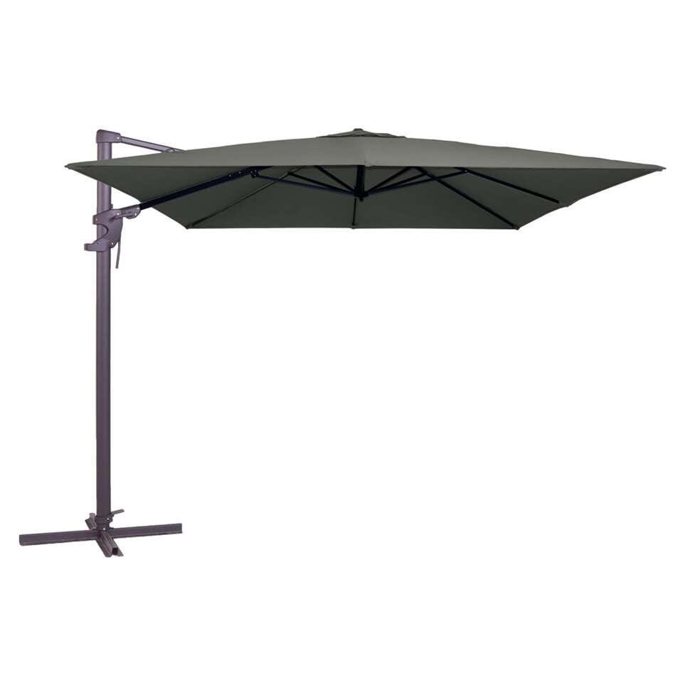 Madison parasol Monaco Flex - grijs - 300x300 cm - Leen Bakker