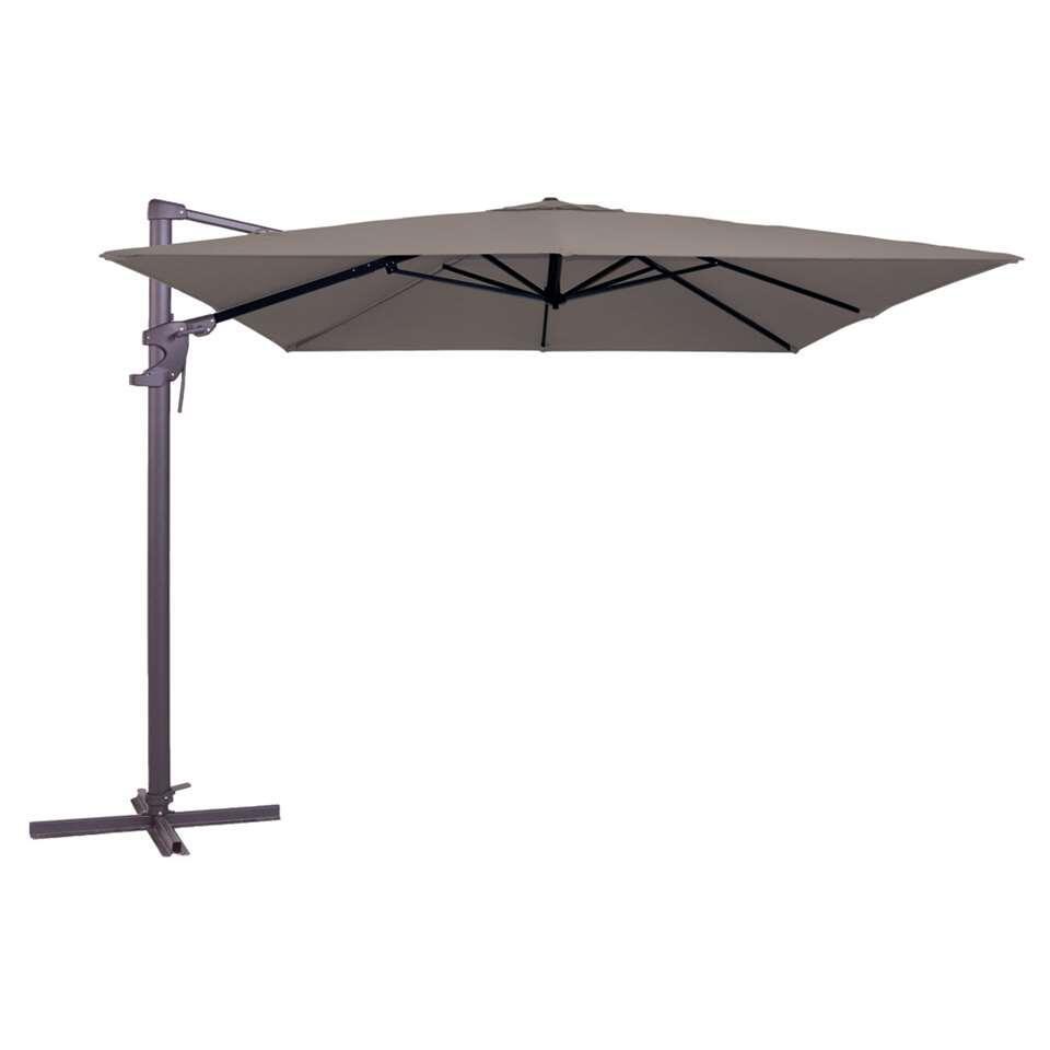 Madison parasol Monaco Flex – taupe – 300×300 cm – Leen Bakker