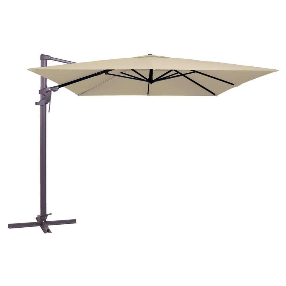 Madison parasol Monaco Flex - ecru - 300x300 cm - Leen Bakker