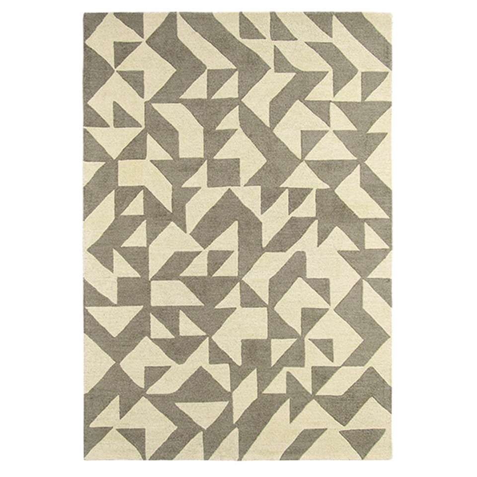 Brink & Campman vloerkleed 89001 Nova Origami - beige/grijs - 140x200 cm - Leen Bakker