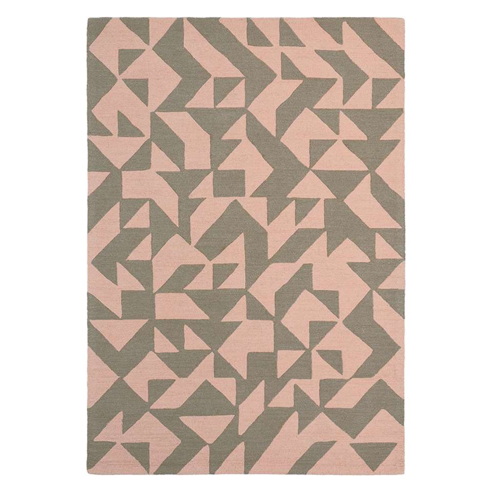 Brink & Campman vloerkleed 89001 Nova Origami - beige/grijs - 160x230 cm - Leen Bakker
