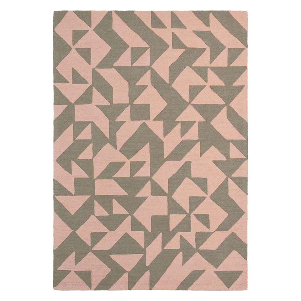 Brink & Campman vloerkleed 89002 Nova Origami - beige/roze - 140x200 cm - Leen Bakker