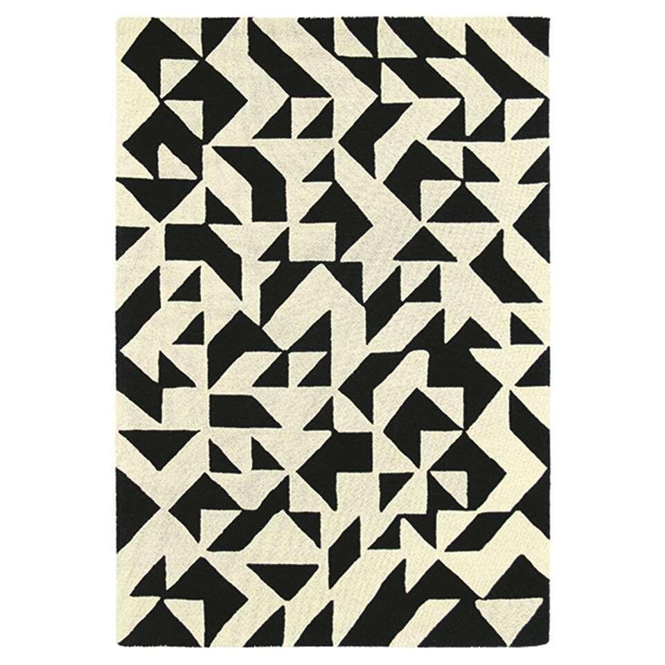 Brink & Campman vloerkleed 89005 Nova Origami - zwart/wit - 140x200 cm - Leen Bakker