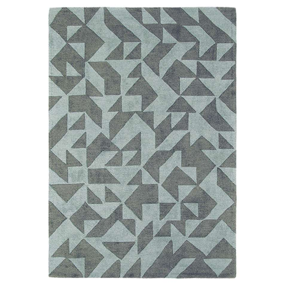 Brink & Campman vloerkleed 89015 Nova Origami - blauw/grijs - 160x230 cm - Leen Bakker