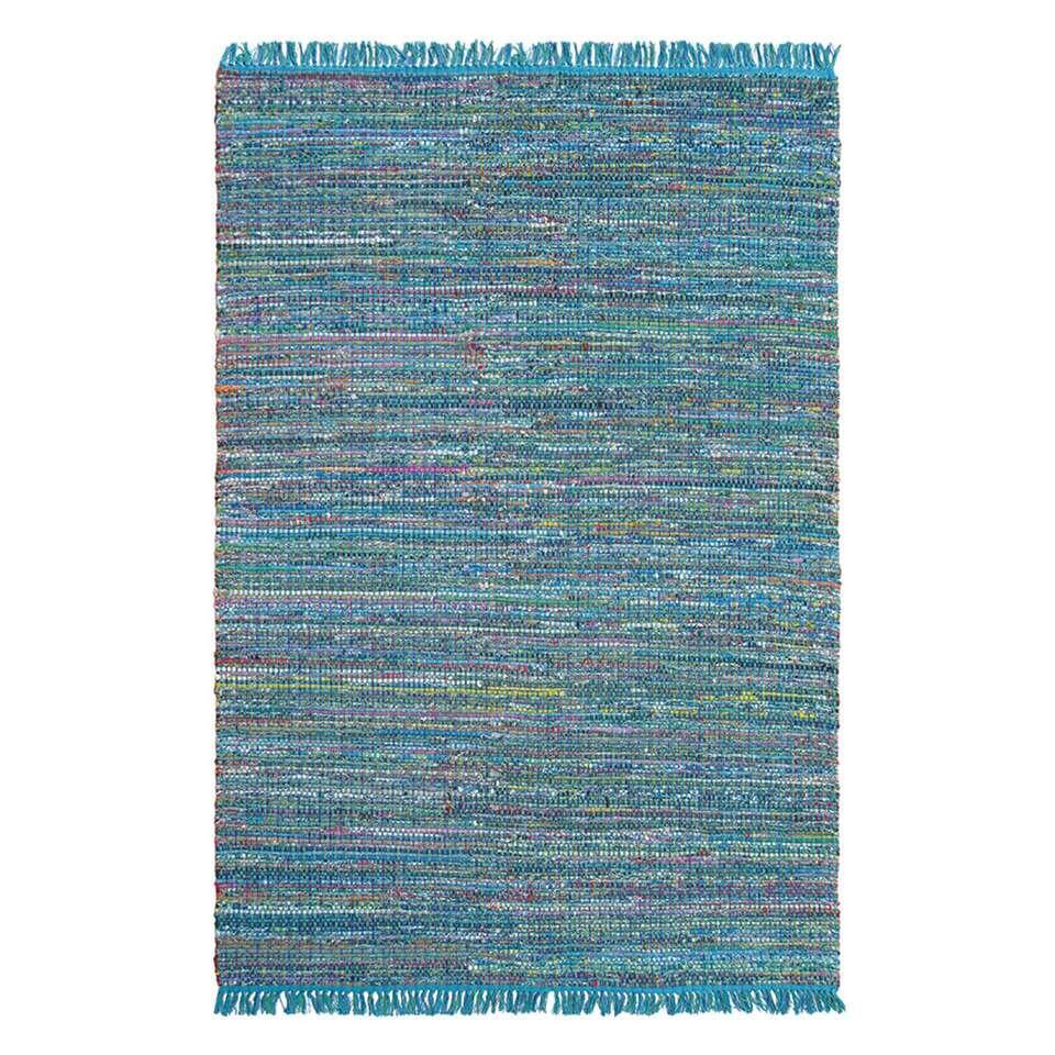 Brink & Campman vloerkleed 79408 Playa - blauw - 160x230 cm - Leen Bakker