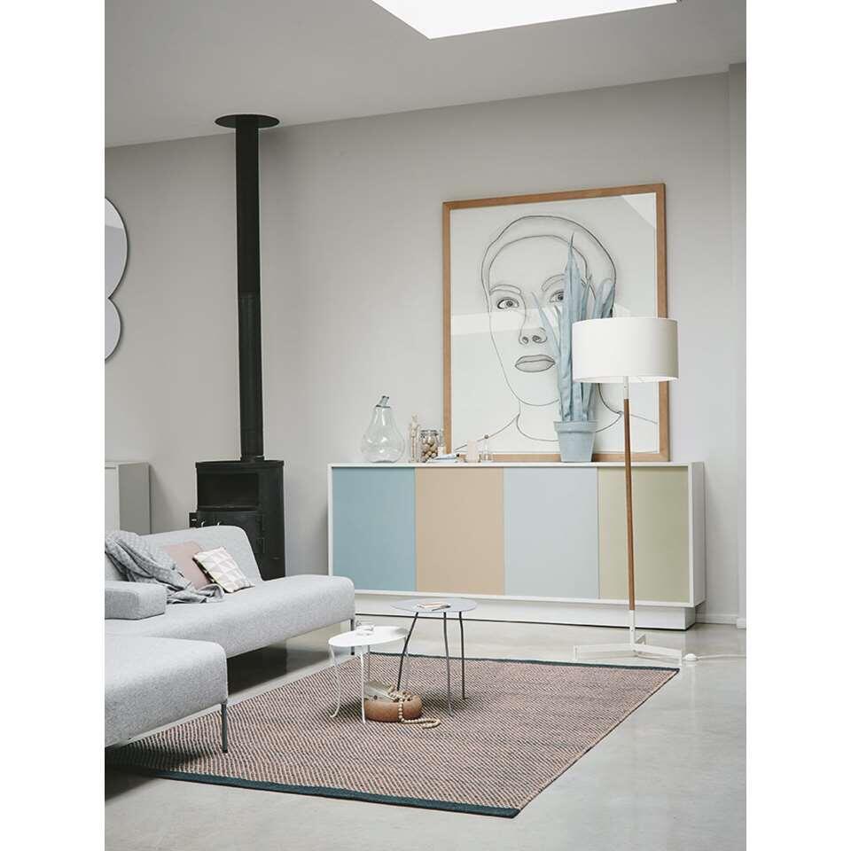 Brink & Campman vloerkleed 47002 Radja - grijs/roze - 200x280 cm - Leen Bakker