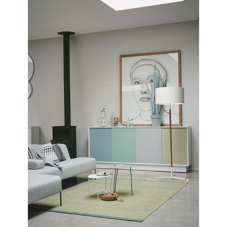 Brink & Campman vloerkleed 47007 Radja - grijs/groen - 140x200 cm - Leen Bakker