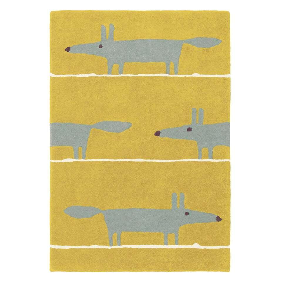 Brink & Campman vloerkleed Scion Mr. Fox Mustard 25306 - geel - 140x200 cm - Leen Bakker