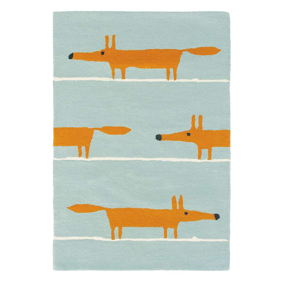 brink campman vloerkleed scion mr fox aqua 25308 blauw 90x150 cm