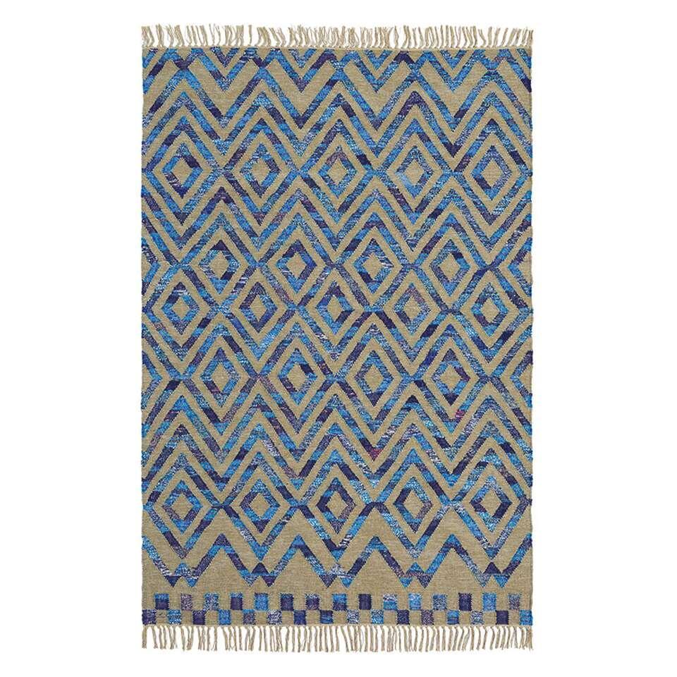 Brink & Campman vloerkleed 79608 Tika Casablanca - blauw - 160x230 cm - Leen Bakker