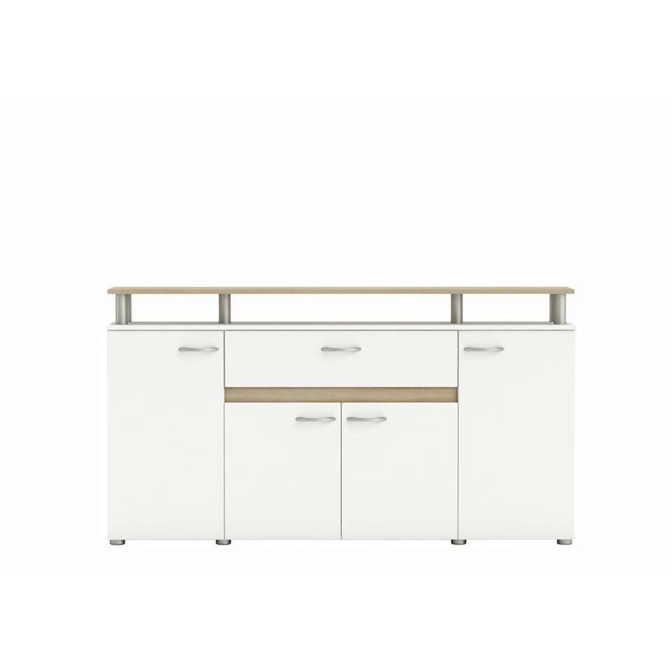 Demeyere dressoir Revolution - wit/eikenkleur - Leen Bakker