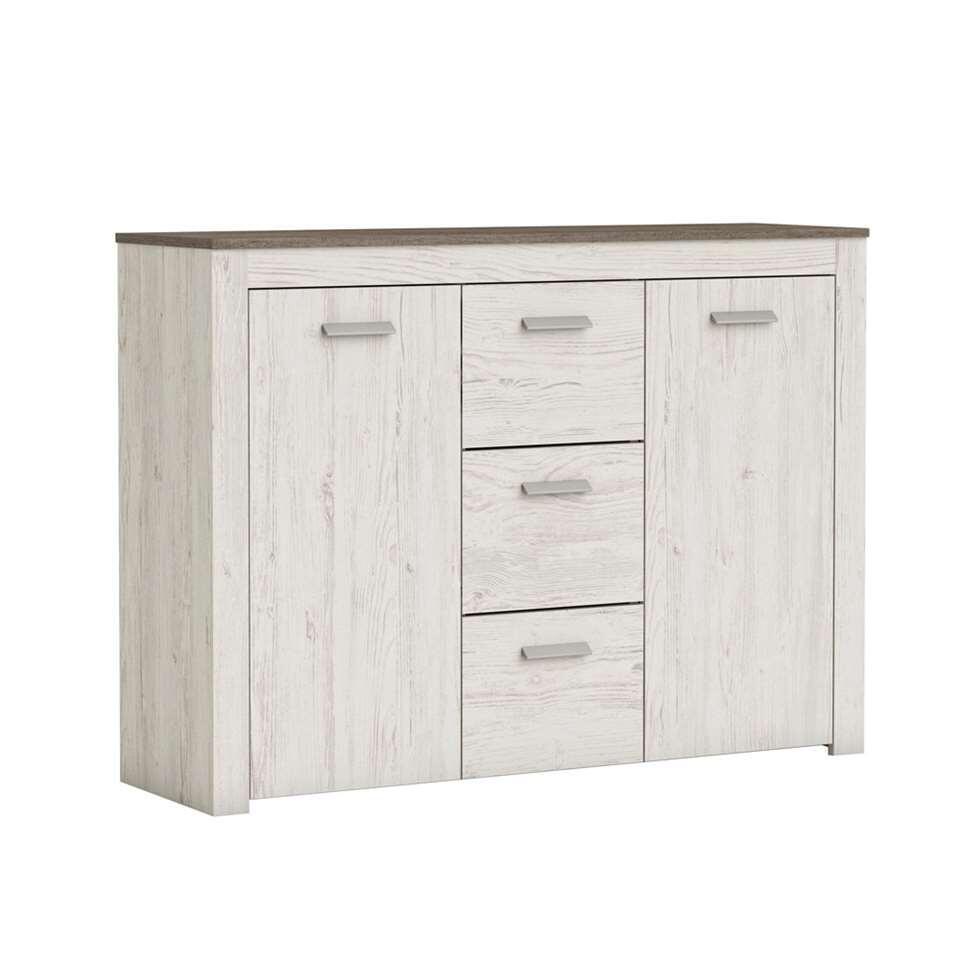 Demeyere dressoir Brava 2 deuren - wit eikenkleur - Leen Bakker