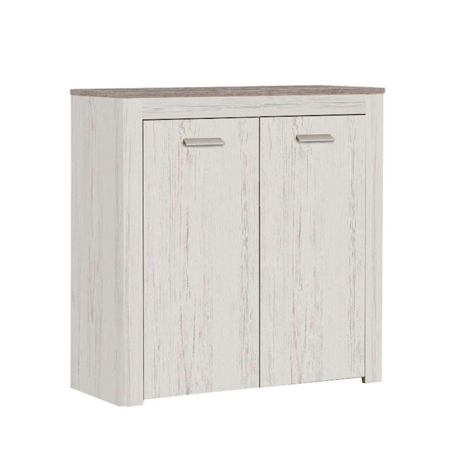 Demeyere kast Brava 2 deuren - wit eiken - 35x84x85 cm - Leen Bakker