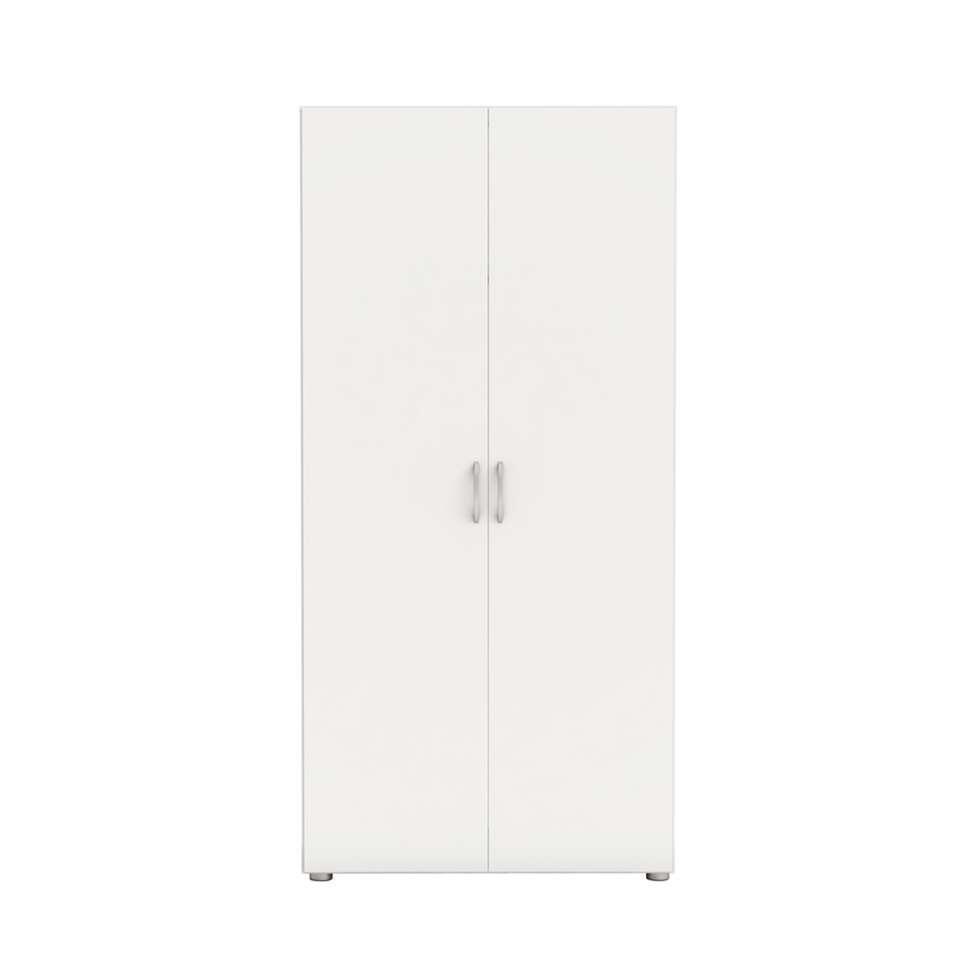 Demeyere kledingkast Zip 2 - wit - 51,5x80,4x166,6 cm - Leen Bakker