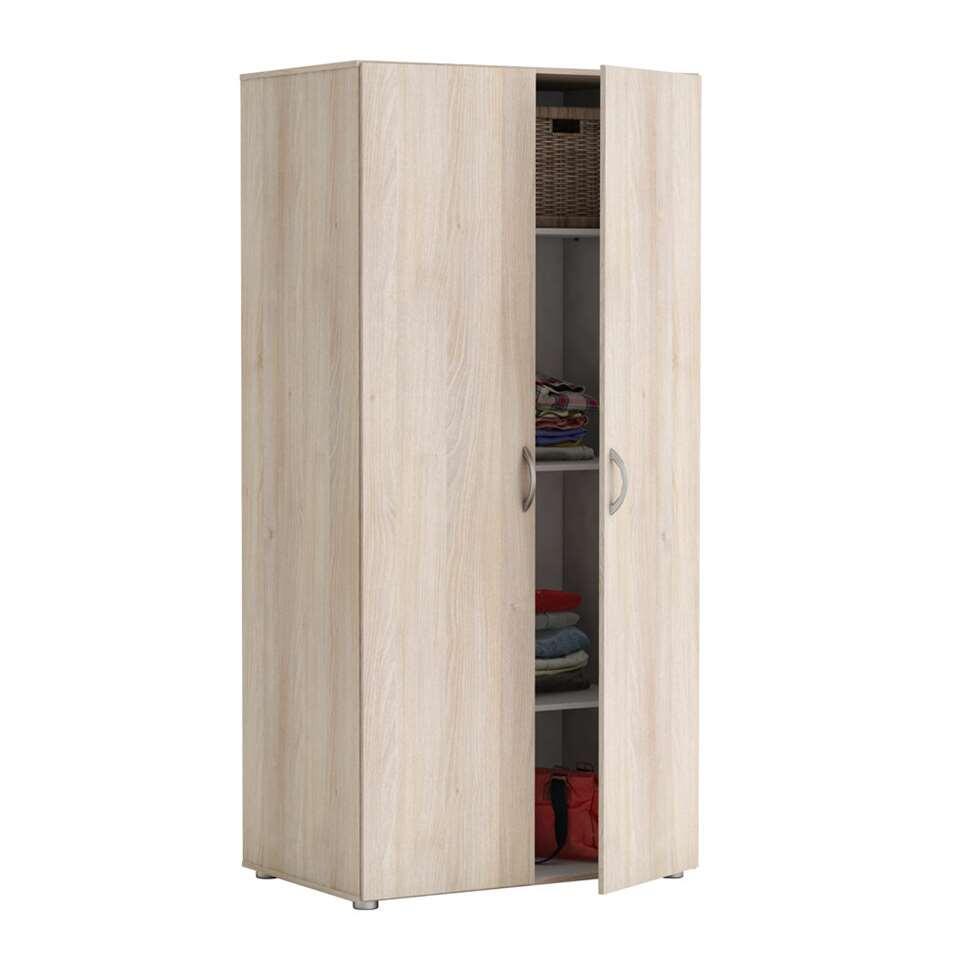 Demeyere kledingkast zippie 2 acaia 51 5x80 4x166 6 cm for Kledingkasten outlet
